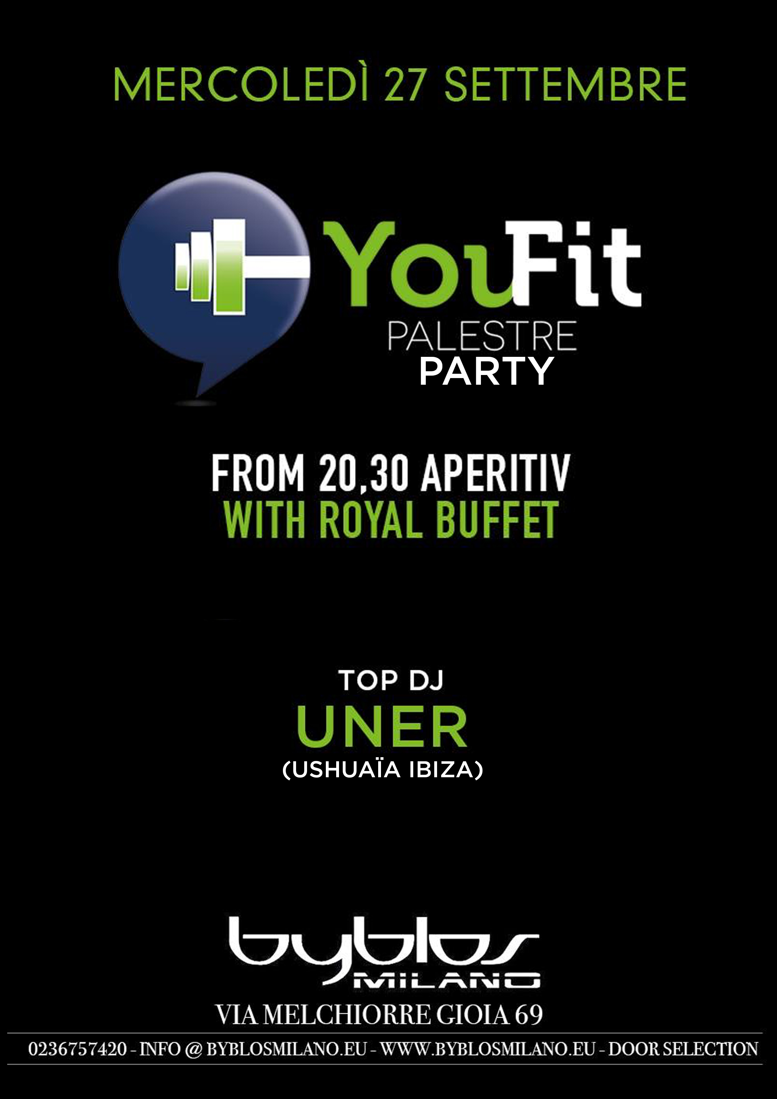 YouFit Party @ Byblos Milano